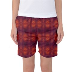 Brown Diamonds Pattern Women s Basketball Shorts by Costasonlineshop