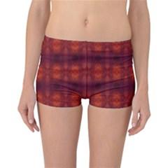 Brown Diamonds Pattern Reversible Boyleg Bikini Bottoms by Costasonlineshop