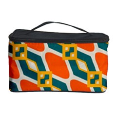 Chains And Squares Pattern Cosmetic Storage Case by LalyLauraFLM