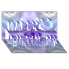 Beautiful Blue Purple Pastel Pattern, Happy Birthday 3d Greeting Card (8x4)  by Costasonlineshop