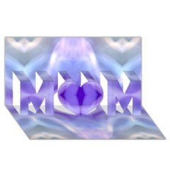 Beautiful Blue Purple Pastel Pattern, Mom 3d Greeting Card (8x4)