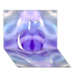 Beautiful Blue Purple Pastel Pattern, Apple 3d Greeting Card (7x5)  by Costasonlineshop