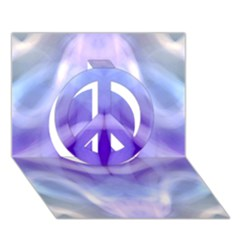 Beautiful Blue Purple Pastel Pattern, Peace Sign 3d Greeting Card (7x5)  by Costasonlineshop