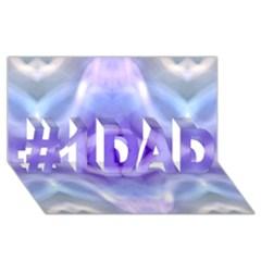 Beautiful Blue Purple Pastel Pattern, #1 Dad 3d Greeting Card (8x4)