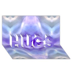 Beautiful Blue Purple Pastel Pattern, Hugs 3d Greeting Card (8x4)  by Costasonlineshop