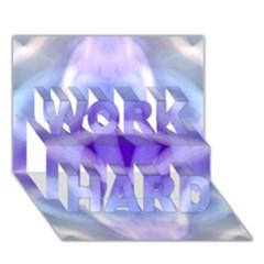 Beautiful Blue Purple Pastel Pattern, Work Hard 3d Greeting Card (7x5)  by Costasonlineshop