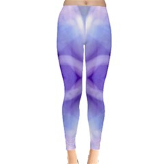 Beautiful Blue Purple Pastel Pattern, Leggings  by Costasonlineshop