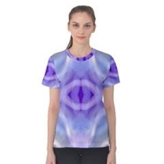 Beautiful Blue Purple Pastel Pattern, Women s Cotton Tee by Costasonlineshop