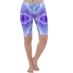 Beautiful Blue Purple Pastel Pattern, Cropped Leggings by Costasonlineshop