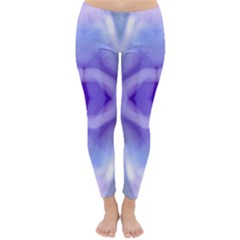 Beautiful Blue Purple Pastel Pattern, Winter Leggings  by Costasonlineshop