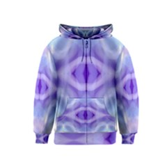Beautiful Blue Purple Pastel Pattern, Kids  Zipper Hoodie by Costasonlineshop