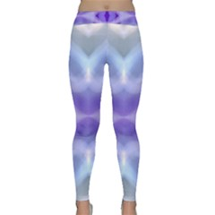 Beautiful Blue Purple Pastel Pattern, Yoga Leggings by Costasonlineshop