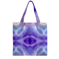 Beautiful Blue Purple Pastel Pattern, Zipper Grocery Tote Bag by Costasonlineshop