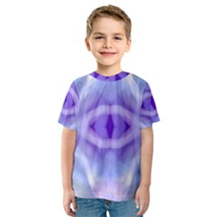 Beautiful Blue Purple Pastel Pattern, Kid s Sport Mesh Tee by Costasonlineshop