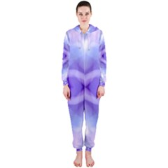 Beautiful Blue Purple Pastel Pattern, Hooded Jumpsuit (ladies)  by Costasonlineshop