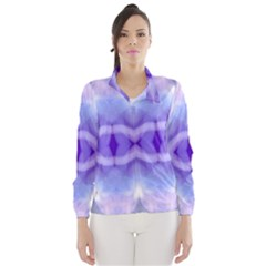 Beautiful Blue Purple Pastel Pattern, Wind Breaker (women) by Costasonlineshop