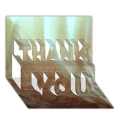 Floating Subdued Orange And Teal Thank You 3d Greeting Card (7x5)  by timelessartoncanvas