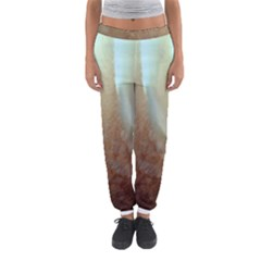 Floating Subdued Orange And Teal Women s Jogger Sweatpants by timelessartoncanvas