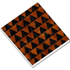 Triangle2 Black Marble & Brown Burl Wood Small Memo Pads