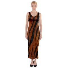 SKN3 BK MARBLE BURL (R) Fitted Maxi Dress by trendistuff