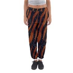 Skin3 Black Marble & Brown Burl Wood Women s Jogger Sweatpants by trendistuff