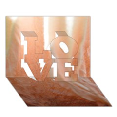 Floating Subdued Peach Love 3d Greeting Card (7x5)  by timelessartoncanvas