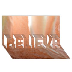 Floating Subdued Peach Believe 3d Greeting Card (8x4)