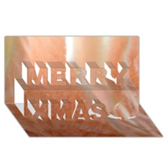 Floating Subdued Peach Merry Xmas 3d Greeting Card (8x4)  by timelessartoncanvas