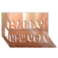 Floating Subdued Peach Happy New Year 3d Greeting Card (8x4)  by timelessartoncanvas