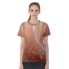 Floating Subdued Peach Women s Cotton Tee by timelessartoncanvas
