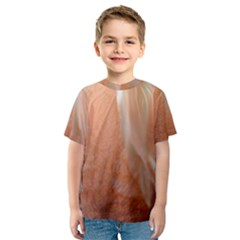 Floating Subdued Peach Kid s Sport Mesh Tee by timelessartoncanvas