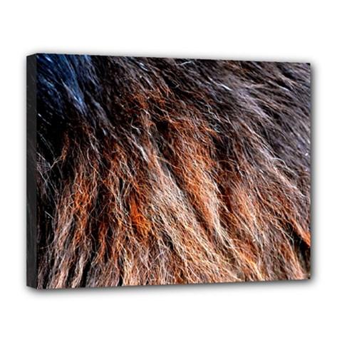Black Red Hair Canvas 14  X 11  by timelessartoncanvas