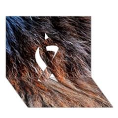 Black Red Hair Ribbon 3d Greeting Card (7x5)  by timelessartoncanvas