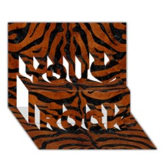 Skin2 Black Marble & Brown Burl Wood (r) You Rock 3d Greeting Card (7x5)