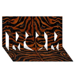 Skin2 Black Marble & Brown Burl Wood Mom 3d Greeting Card (8x4)