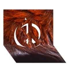 Red Hair Peace Sign 3d Greeting Card (7x5)  by timelessartoncanvas