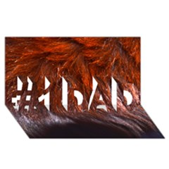 Red Hair #1 Dad 3d Greeting Card (8x4)