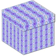 Light Blue Purple White Girly Pattern Storage Stool 12   by Costasonlineshop