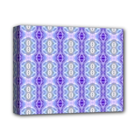 Light Blue Purple White Girly Pattern Deluxe Canvas 14  X 11  by Costasonlineshop