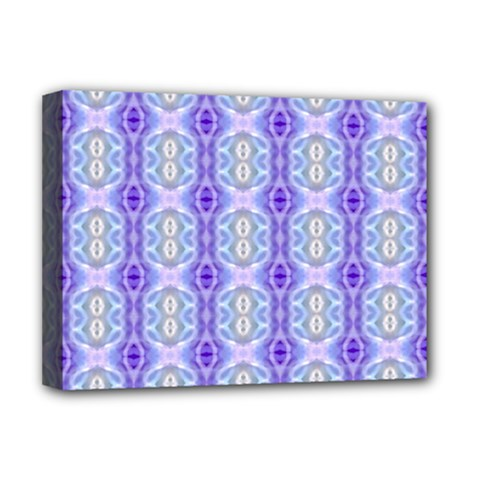 Light Blue Purple White Girly Pattern Deluxe Canvas 16  X 12