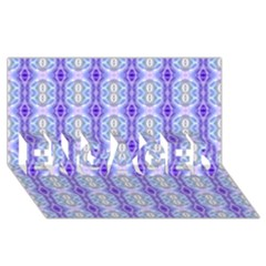 Light Blue Purple White Girly Pattern Engaged 3d Greeting Card (8x4)  by Costasonlineshop