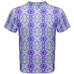 Light Blue Purple White Girly Pattern Men s Cotton Tee