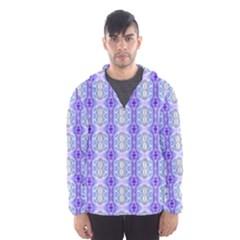 Light Blue Purple White Girly Pattern Hooded Wind Breaker (men) by Costasonlineshop