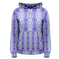 Light Blue Purple White Girly Pattern Women s Pullover Hoodie by Costasonlineshop