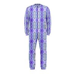 Light Blue Purple White Girly Pattern Onepiece Jumpsuit (kids)