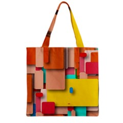 Rounded Rectangles Grocery Tote Bag by hennigdesign