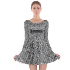 Modern Design 1 Long Sleeve Skater Dress