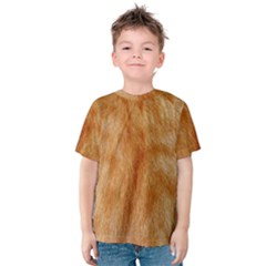 Orange Fur 2 Kid s Cotton Tee by timelessartoncanvas