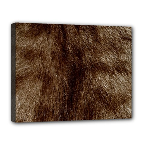Silber Tiger Fur Canvas 14  X 11  by timelessartoncanvas