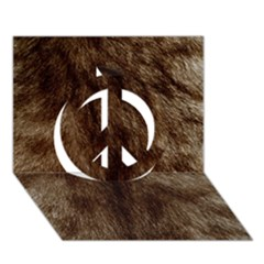 Silber Tiger Fur Peace Sign 3d Greeting Card (7x5)  by timelessartoncanvas